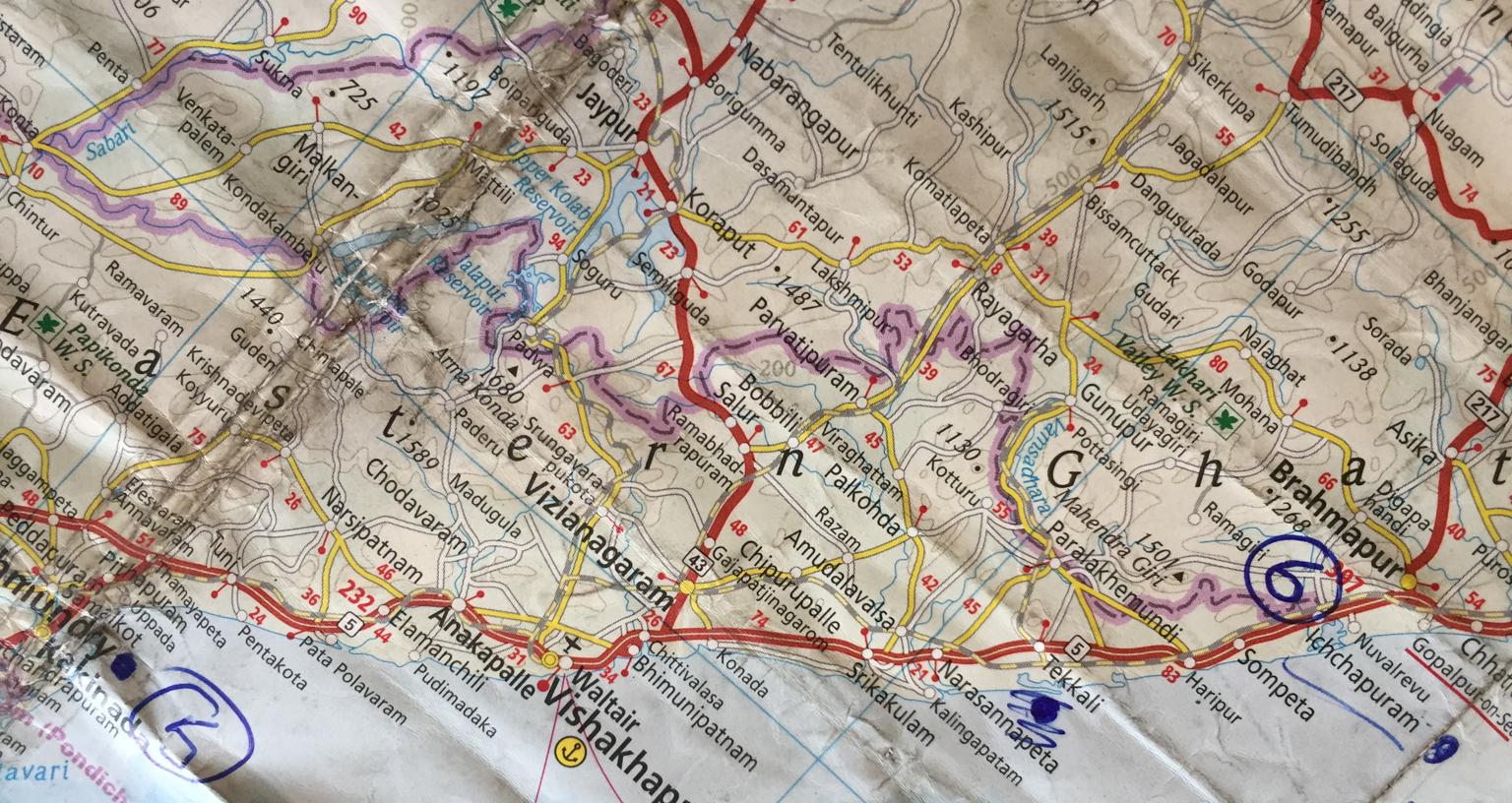 India Map - Rajahmundry To Cuttack