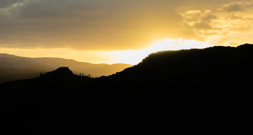 Was quite cold on Arthur's Seat yesterday, but was a glorious sunset.