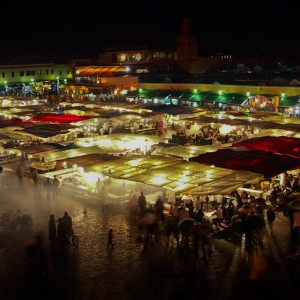 Evening Food Market At Jemaa El Fna, Marrakech.