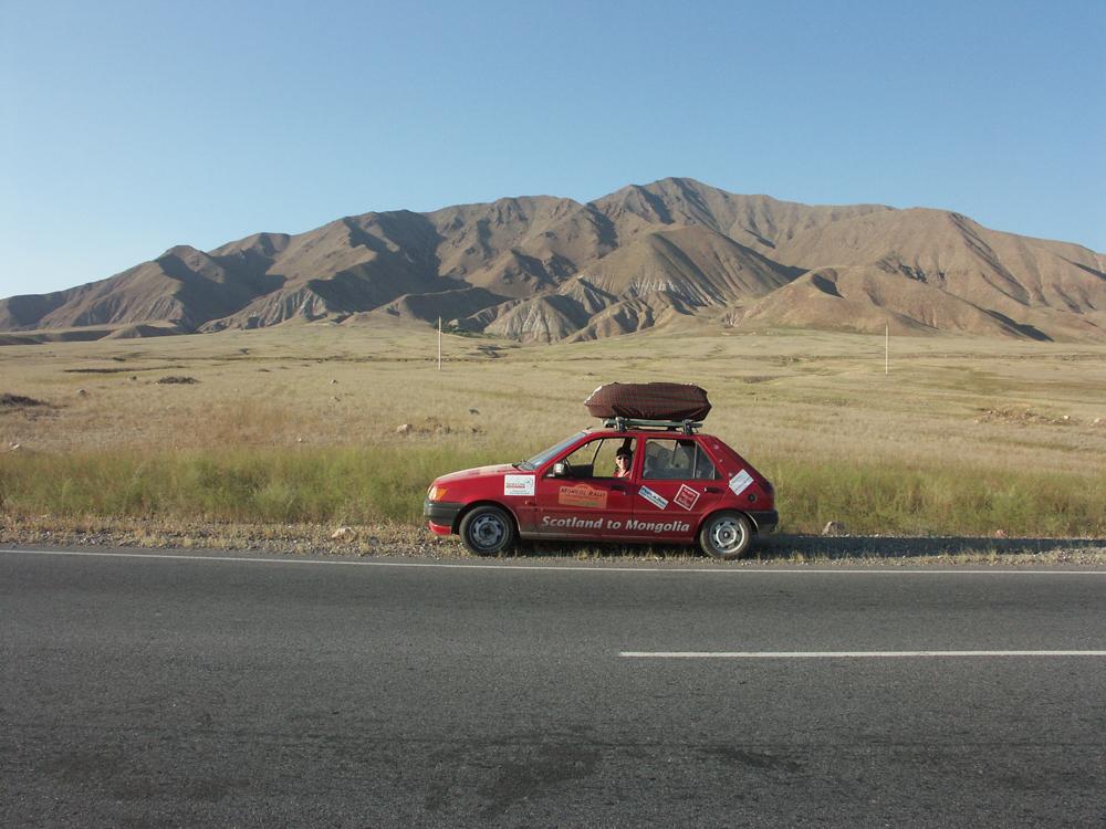 En route to Bishkek, Kyrgyzstan