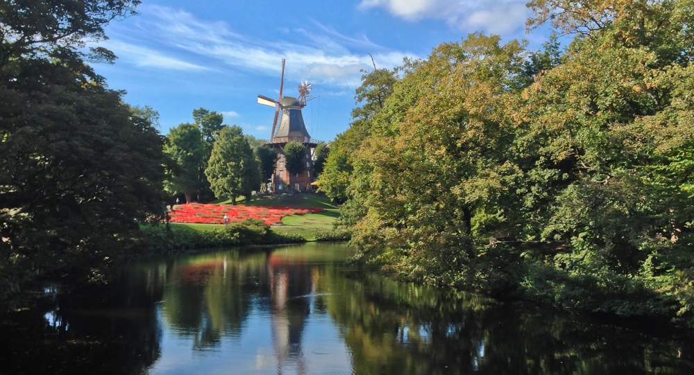 Am Wall Windmill, Bremen, Germany.