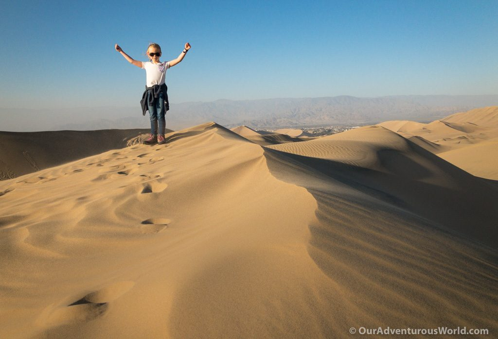 Elizabeth in Huacachina