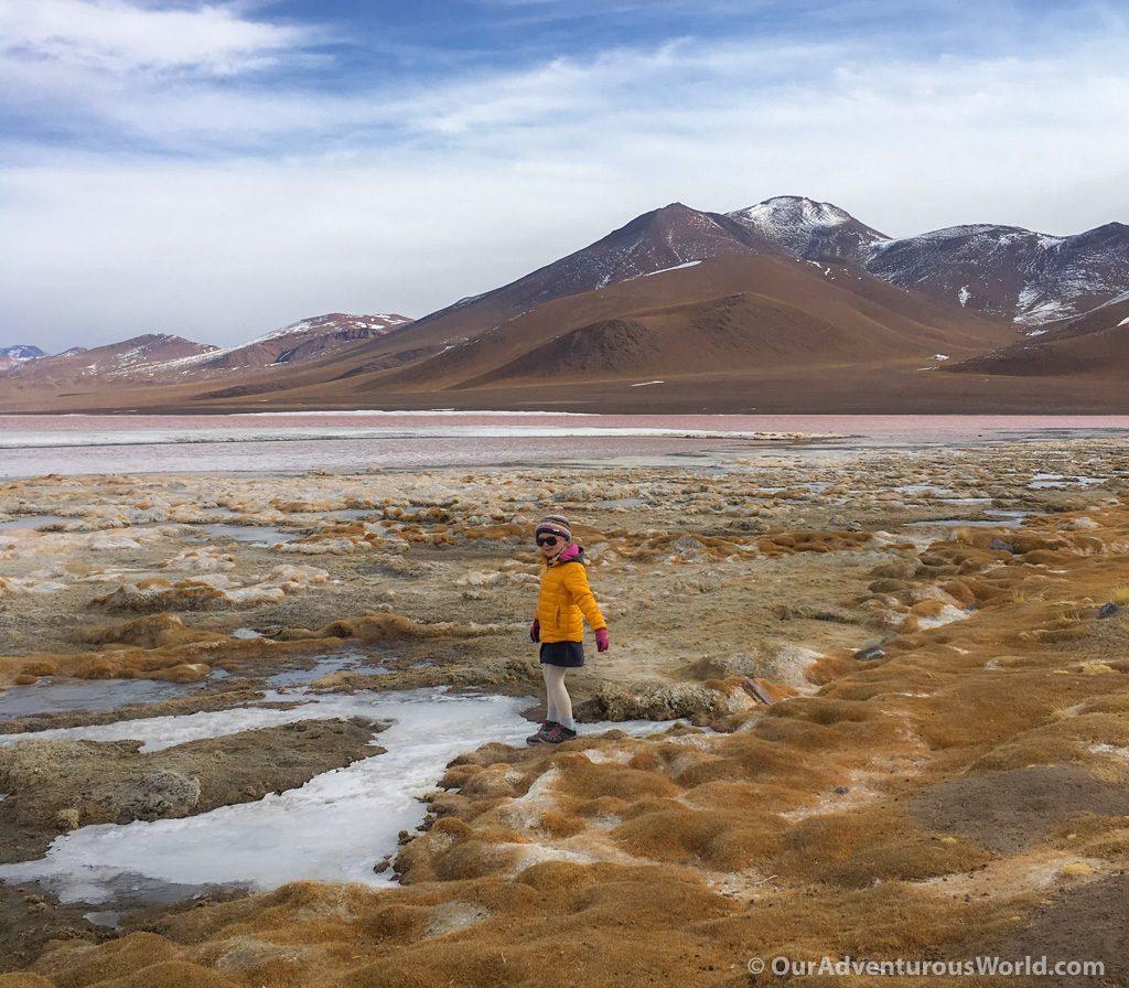 Elizabeth explores Laguna Colorada
